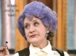 Workin lavender hair since 1972 - Mrs. Slocombe